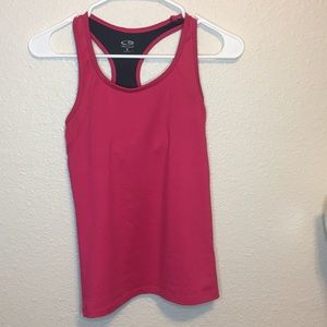 Pink champion workout tank with liner